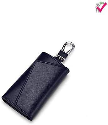 REYG Auto Schlüsselbund Schlüsselhalter Tasche Brieftasche Abdeckung/Sechs Schlüssel Haken Reißverschluss Fall Mit Kartenhalter,Blue
