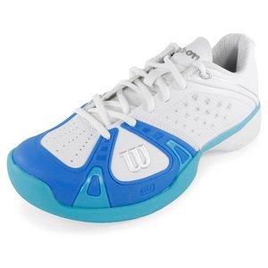 Wilson Rush Pro Chaussures De Tennis Pour Femmes Blanc / Bleu