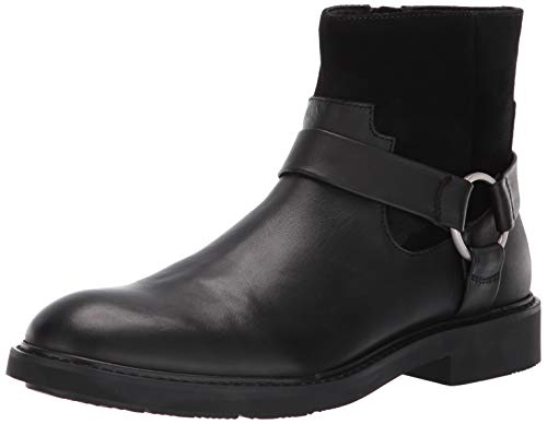 Leather Boot Black Dress (Calvin Klein Men's Vergil Dress Calf Suede Ankle Boot, Black, 13 M M US)