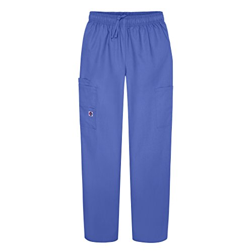 (Sivvan Women's Scrubs Drawstring Cargo Pants (Available in 12 Colors) - S8200 - Ceil Blue - 3X)