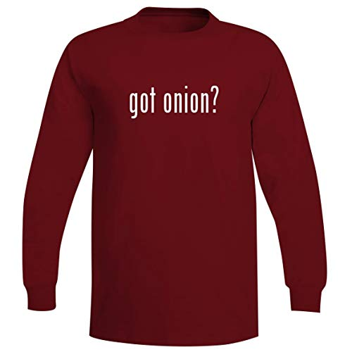 got Onion? - A Soft & Comfortable Men's Long Sleeve T-Shirt, Red, Medium (T The Yc Last)