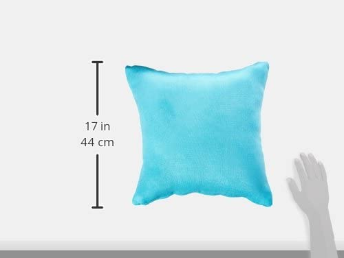 Cortesi Home Jakie Decorative Soft Velvet Square Accent Throw Pillow with Insert, 16 x 16 , Blue