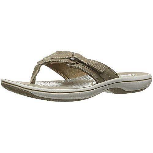 clarks ladies flip flops