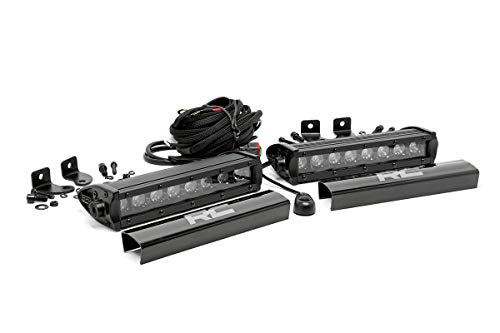 "Rough Country 70728BL - 8"" Black Series CREE LED Single Row Light Bars (2) (fits) Anywhere You Can Mount It"