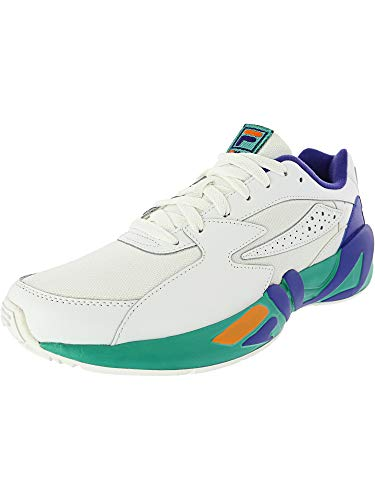 Fila Mens Mindblower Leather Low Top Lace Up Running, Wht/Royb/Glke, Size 12.0 (Best Fila Running Shoes)