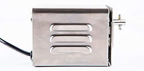 HUKOER SP-S40 Moteur électrique pour Barbecue en Acier Inoxydable, Moteur Professionnel pour Barbecue, Poulet, Porc, Chèvre grillée à l'extérieur (220V-240V)