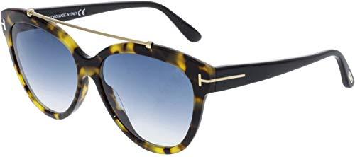 Tom Ford FT0518 56W Shiny Havana Livia Cats Eyes Sunglasses Lens Category 2 ()