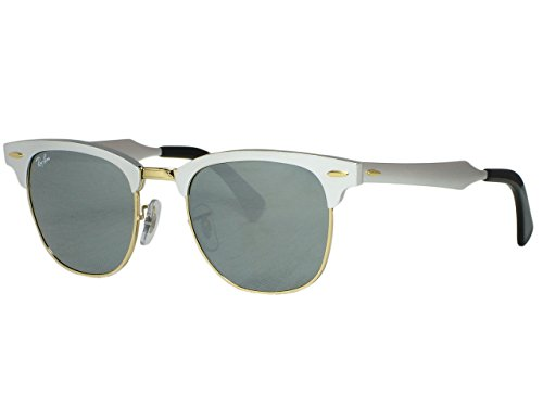 Ray Ban RB3507 Clubmaster Aluminum 137/40 Silver - Silver Ray Ban Clubmaster Aluminum