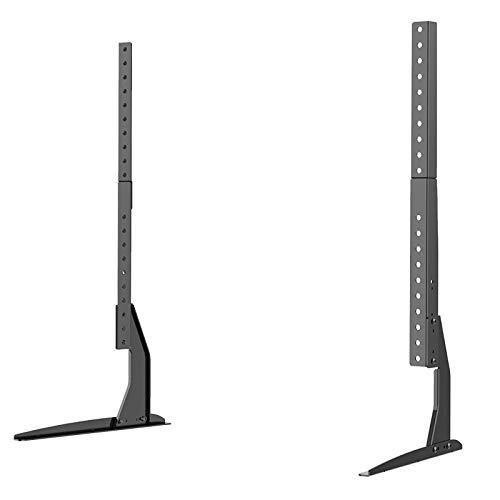AZAMON Height Adjustable Flexible Universal LCD Flat Screen TV Table Top Stand Base Padded Bottom Feet 22
