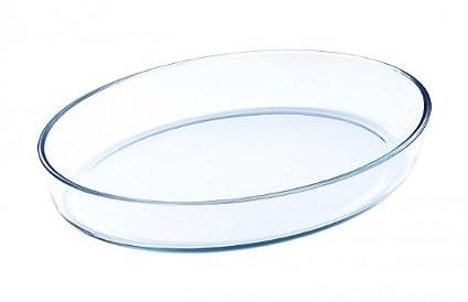 Molde para horno de vidrio - 0,7 litro oval - cuenco de cristal -