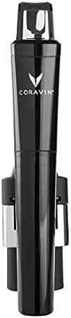 Coravin – Model Six Core Sistema de Preservación de Vino - 2 Cápsulas de Gas y Tapón de Rosca – En Color Negro Metalizado
