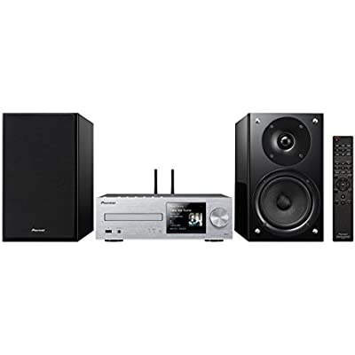 Pioneer X-HM86D S  Micro Hifi System  for CD  MP3  DAB  Radio Playback  Wifi  Bluetooth  Music Apps  Spotify  Tidal  Deezer   Watt Channel  Streaming  Multiroom  Front USB Audio in  Silver