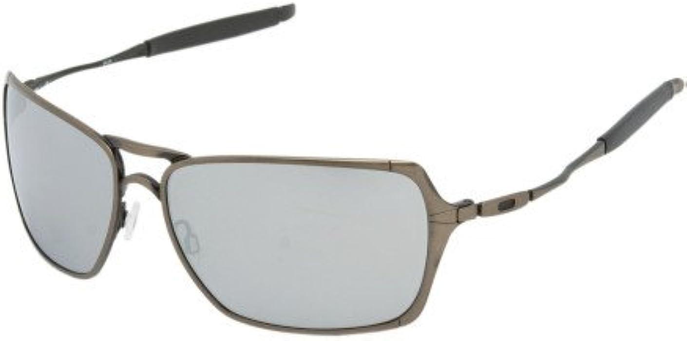 afcdbd8613 Amazon.com  Oakley Inmate Sunglasses Brushed Chrome Matte Black ...