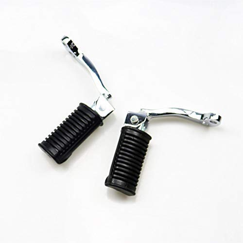 BHYShop Black Front Footrests Foot Pegs Foot Pedals For Off Road Suzuki GN125 GN-125