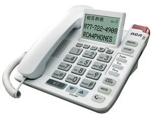 High Volume 40dB Large Big Button Numbered Keypad Display Easy To Use Special Needs House Telephone For Low Vision Sight Visually Hard of Hearing Impaired Assisted Elderly Seniors Citizen Old People