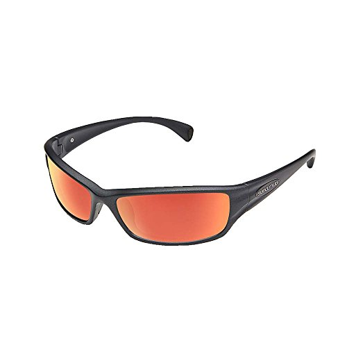 Suncloud Hook Polarized Sunglasses, Matte Graphite, Red ()