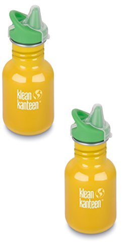 Klean Kanteen Kid Kanteen Sippy Bottle Bundle 12oz - 2 Pack: School Bus