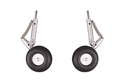 - FMS RC Airplane Part - Main Landing Gear Set with Shock Absorption ROCKO112 for 70mm Ducted Fan EDF F-18 F18
