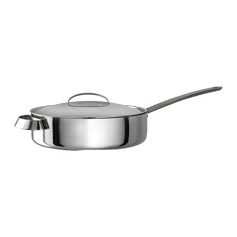 IKEA FAVORIT - sartén con tapa, de acero inoxidable - 26 cm: Amazon.es: Hogar
