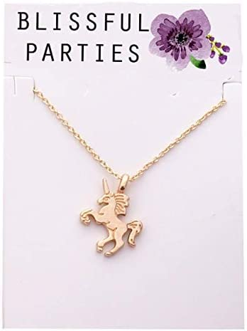 Blissful Parties Unicorn Party Favor Necklaces Great Friendship Necklaces or Unicorn Birthday Gifts Pack of 12