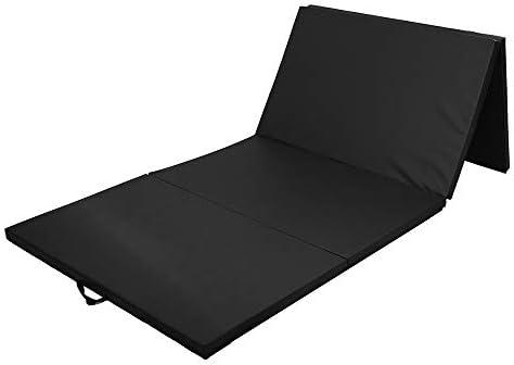 折りたたみ式 スポーツ 体操 マット 118x47.2x1.97インチ体操マットのホームジム折りたたみパネルのスポーツヨガエクササイズタンブリングフィットネスパッド エクササイズマット (Color : Black, Size : 300x120x5cm)