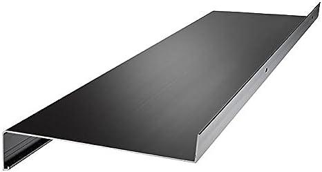 anthrazit Aluminium Fensterbank Zuschnitt auf Ma/ß Fensterbrett Ausladung 195 mm wei/ß dunkelbronze silber