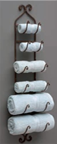 IMAX Towel/Wine Rack, Brown