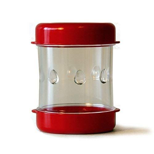 The Negg Boiled Egg Peeler - Red (Best Time To Peel A Hard Boiled Egg)