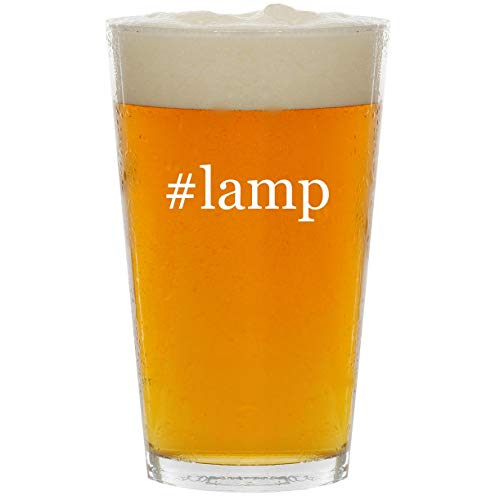 #lamp - Glass Hashtag 16oz Beer Pint