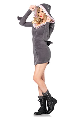 Cute Adult Costumes (Leg Avenue Women's Cozy Shark, Grey,)