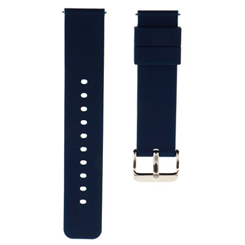 Band Jelly Adjustable - Baosity 20mm Watch Strap Replacement Perfect Silicone Jelly Rubber Adjustable Watch Band - Navy Blue