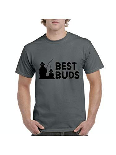 Sc Fishing Rod - Best Buddies Grandpa and Grandson Matching Family Fishing Men's Short Sleeve T-Shirt (SC) Charcoal