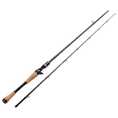 Fiblink Graphite Baitcasting Rod Portable Casting Rod 2-Piece Baitcaster (7' Medium)