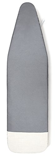 """de Machinor 15"""" x 48"""" - 3 Layer Padded - Ironing Board Cover - ALUMINUM SILICONE Coated Textile/With Built-in Iron-Rest - Color Gray/Beige"""