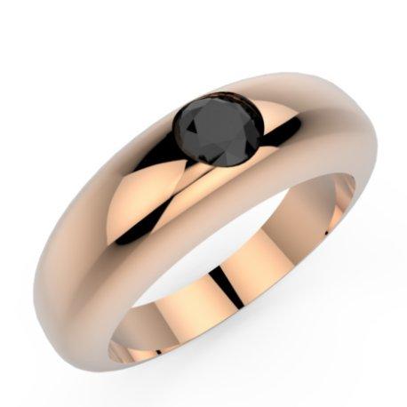 CLARISS Bagues Argent Diamant Noir 0,8 Rond