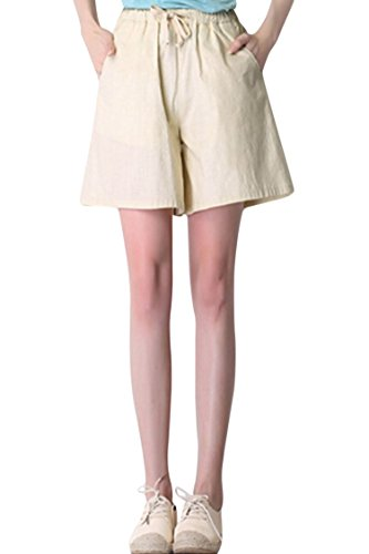 Vertiar Classic Elastic Waist Relaxed Wide Leg Shorts
