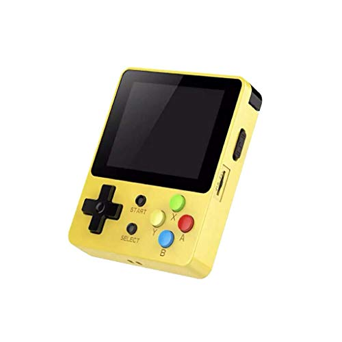 Finedayqi ❤ Game Screen by 2.6 Thumbs Mini Palm Palm Console of Nostalgic Game Children (Yellow)
