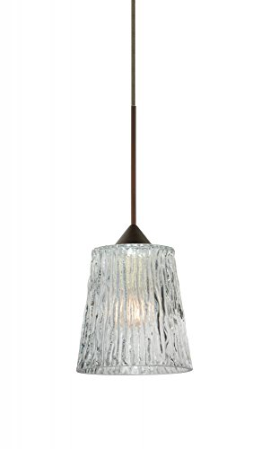 - Besa Lighting 1XT-512500-LED-BR 1X35W Gy6.35 Nico 4 Pendant with Clear Stone Glass, Bronze Finish