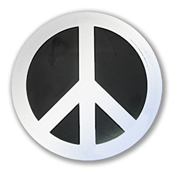 "Peace Symbol Chrome Auto Emblem - 4"" x 4"""