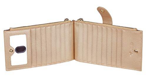 Travelambo Womens Walllet RFID Blocking Bifold Multi Card Case Wallet with Zipper Pocket 4