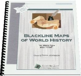 Blackline Maps of World History, the Middle Ages, 400-1600ad (Knowledge Quest)