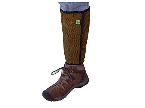 "k Gaiters. 3D mesh slows ticks. Must combine with effective tick or insect clothing repellent, natural or essential oil spray, or permethrin spray. 12"" high wrap. (Olive) ()"