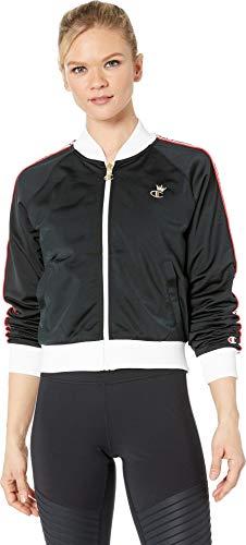 Champion LIFE Women's Track Jacket, Black/White/red Spark ()