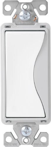 EATON 9504WS Switch Quiet Decr 4Way 15A Ws, White Satin
