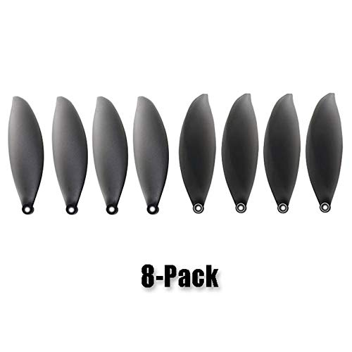 Tineer 4 Pieces Propeller Dustproof Motor Cap Cover Case+8 Pack Propeller Props Blades Protective for Parrot ANAFI Minidrone Accessory Propellers + Red Motor Cover
