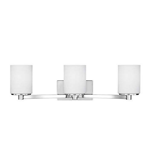 Sea Gull Lighting 4439103-05 Hettinger Three Light Wall Bath Vanity Style Lights, Chrome Finish