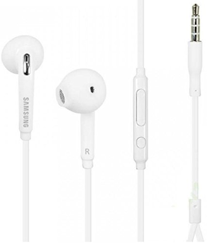 Samsung EO-EG920LW OEM Wired 3.5mm Headset with Microphone for Samsung Galaxy S7/S7 Edge (In Jewel Case) - White