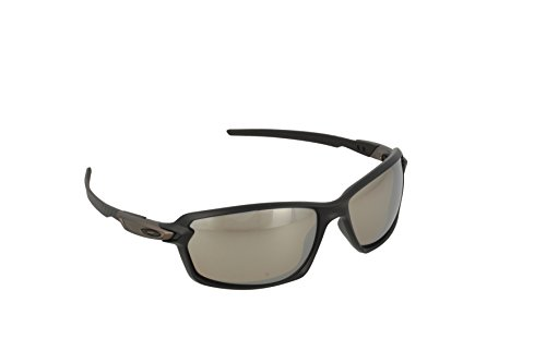 Oakley Men's Carbon Shift Polarized Iridium Rectangular Sunglasses, Matte Black, 62 - Fiber Goggles Carbon Oakley