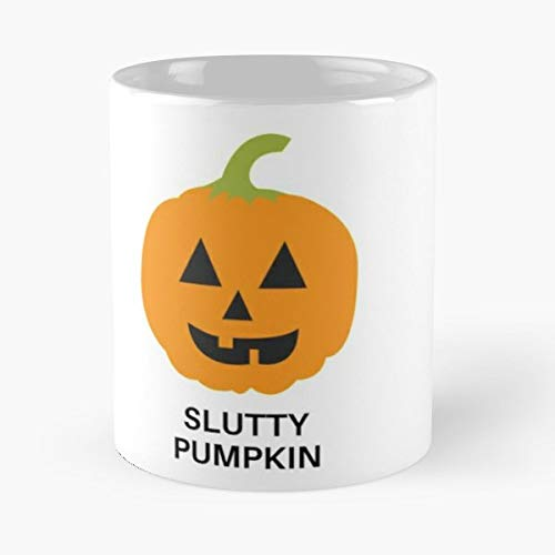 Pumpkin Halloween Himym Creepy - 11 Oz Coffee Mugs Unique Ceramic Novelty Cup, The Best Gift For Halloween.