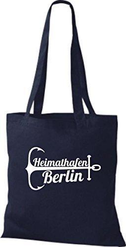 Shirtinstyle Cloth Bag Cotton Bag Berlin Blue Navy Port